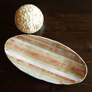 Studio B Striped Ceramic Tray